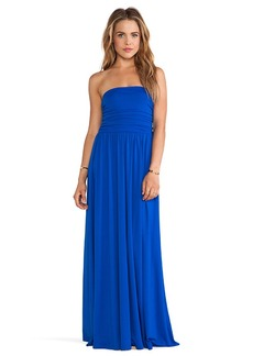 Susana Monaco Aurora Strapless Maxi Dress in Blue