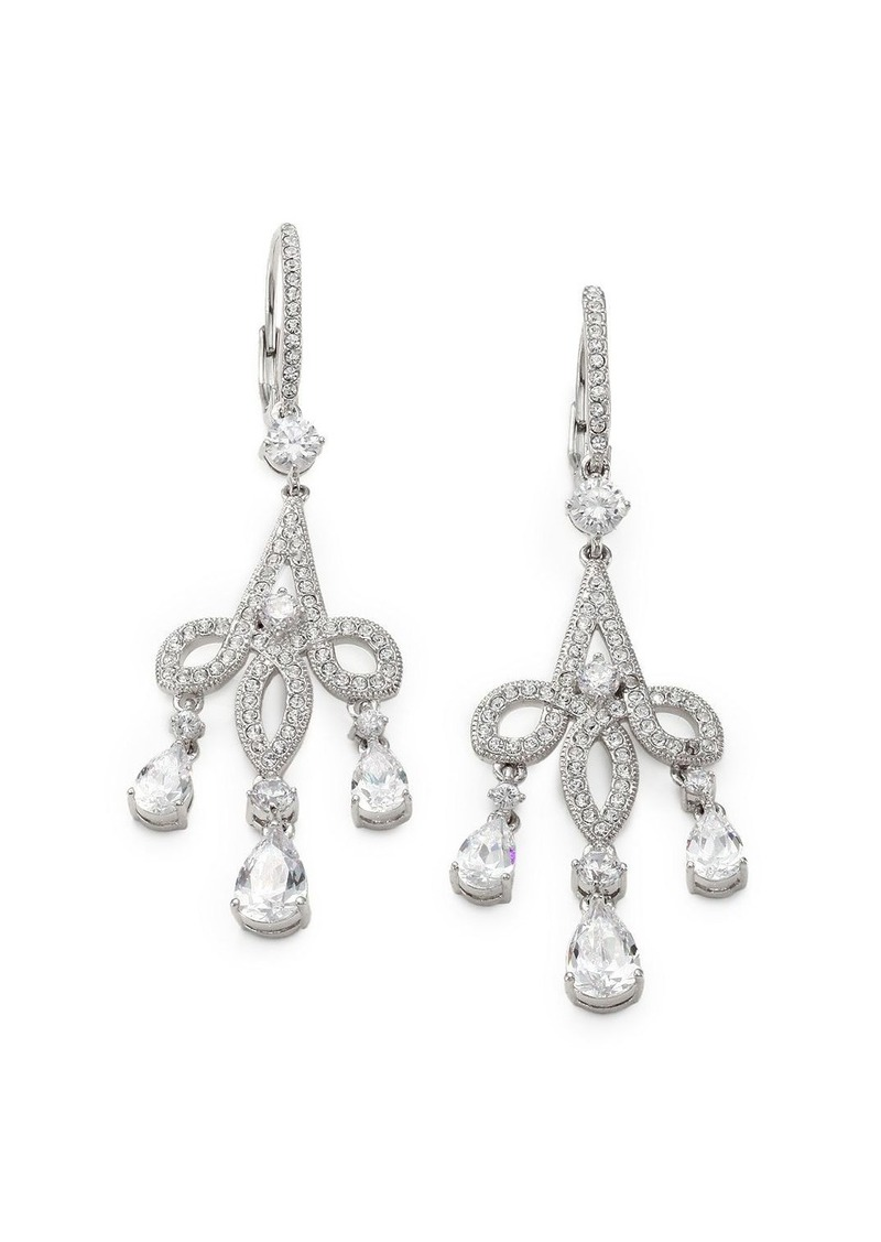 Adriana Orsini Pave Crystal Chandelier Earrings