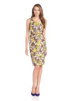 Jones New York Women's Belted Sleeveless Dress