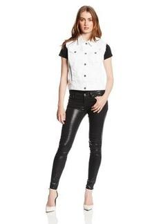Lucky Brand Women's White Denim Vest