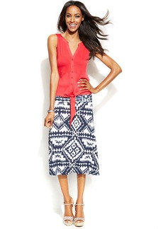 INC International Concepts Printed Convertible Skirt