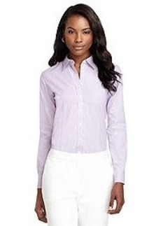 Non-Iron Classic Fit Framed Dash Stripe Dress Shirt
