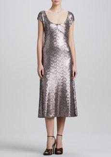 Marc Jacobs Brushed Metal Sequins Dress