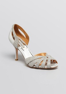 Badgley Mischka Peep Toe D'Orsay Evening Sandals - Tatiana High Heel