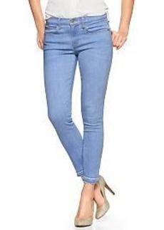 1969 raw-edge legging skimmer jeans