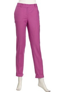 Lafayette 148 New York Cuffed Stretch Trousers, Fuchsia