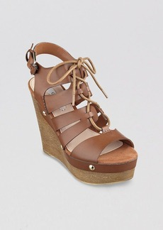GUESS Open Toe Platform Wedge Sandals - Canute 2