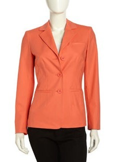 Lafayette 148 New York Fitted Long-sleeve Button-front Jacket, Sunset