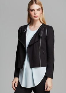 DKNYC Soft Moto Jacket with Faux Leather