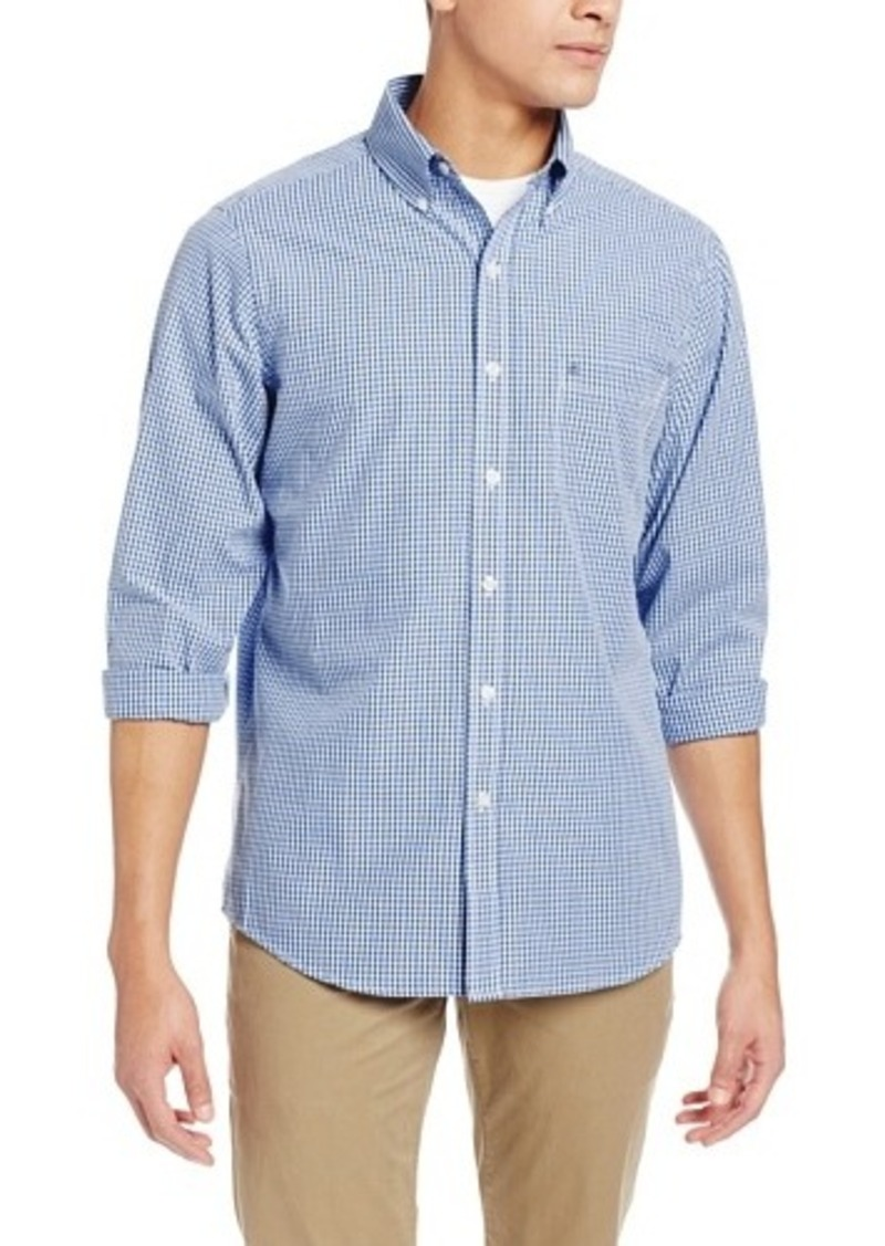 Izod izod men 39 s slim fit essential gingham button down for Izod button down shirts