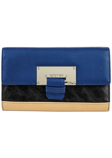 Kenneth Cole Reaction Metal Head Flap Clutch Wallet