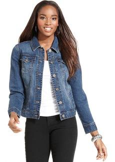 Style&co. Petite Denim Jacket, Mosaic Wash