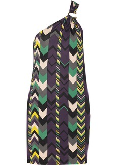 M Missoni One-shoulder printed jersey dress