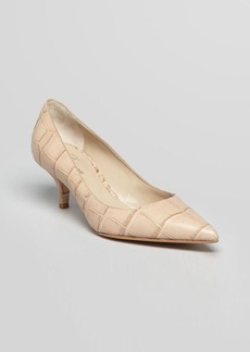 Delman Pointed Toe Pumps - Belle Mid Heel