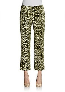 Lafayette 148 New York Cropped Bleeker Printed Pants