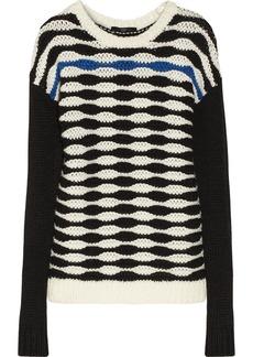Tibi Patterned chunky-knit sweater