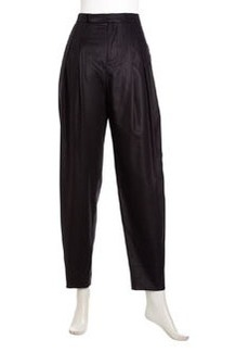 J Brand Ready to Wear Maggie Pleated Cropped Pants, Black