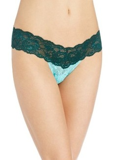 Cosabella Women's Never Say Never 2 Tone Lr Thong Panty