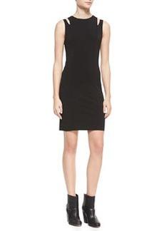 Vela Slit-Shoulder Jersey Dress   Vela Slit-Shoulder Jersey Dress