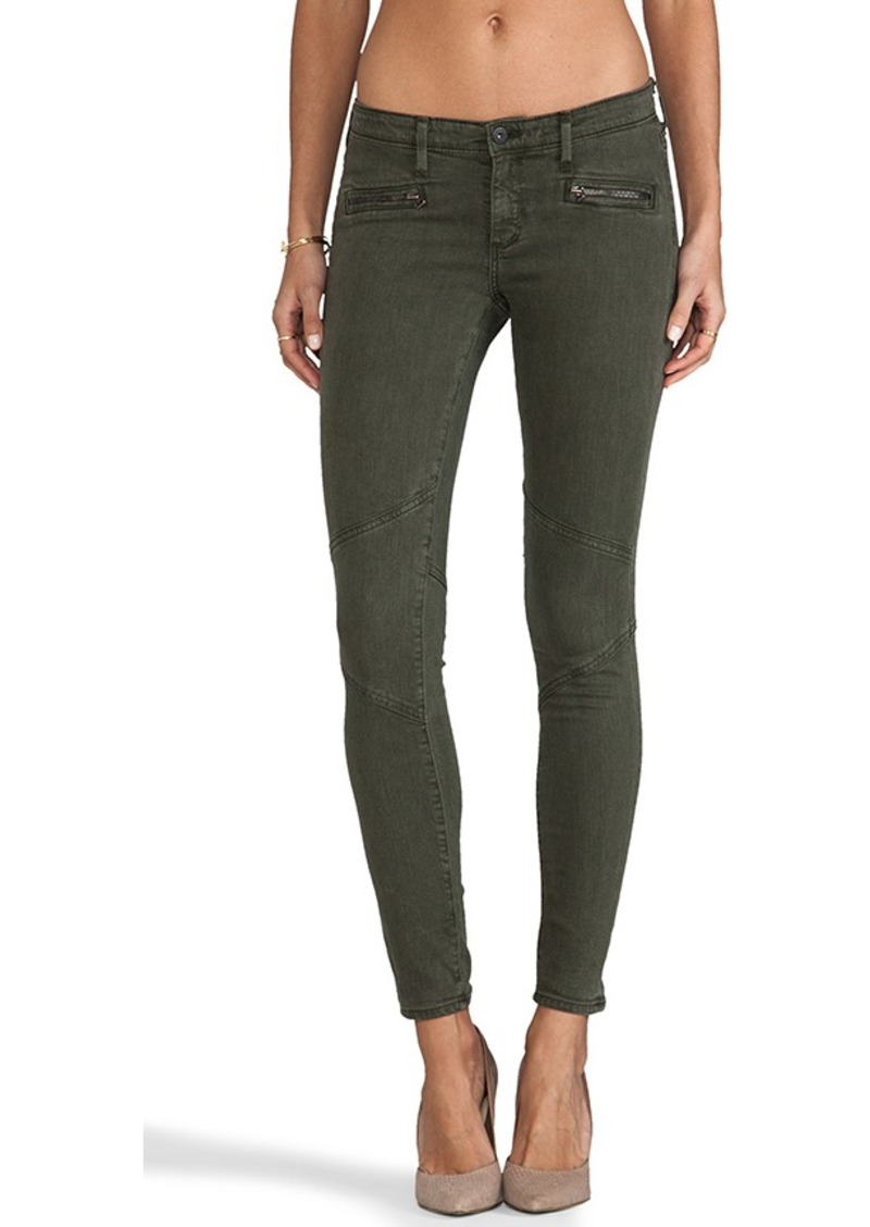 AG Adriano Goldschmied Moto Legging in Sulfur Dark Autumn Olive