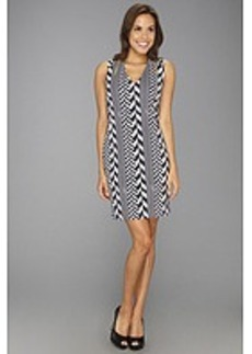 MICHAEL Michael Kors Chevron Sleeveless Chain Zip Dress