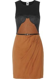 M Missoni Paneled wafer-mesh dress