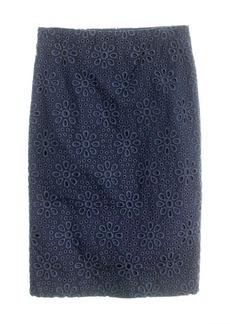 No. 2 pencil skirt in pinwheel eyelet