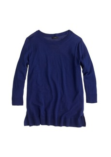 Lightweight merino wool tunic sweater