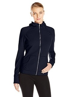 Danskin Women's Hooded Enzyme Washed French Terry Jacket