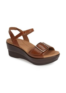 Dansko 'Georgie' Leather Quarter Strap Platform Sandal (Women)