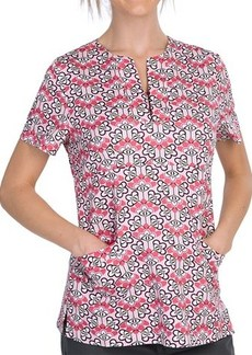 Dansko Gillian Empire Waist Print Scrub Top - Short Sleeve (For Women)