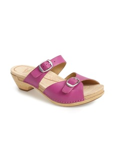 Dansko 'Lottie' Leather Sandal (Women)