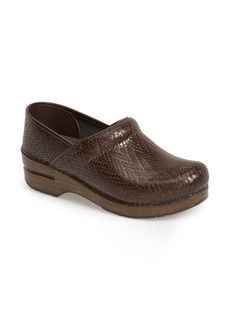 Dansko 'Professional' Woven Leather Clog (Women)