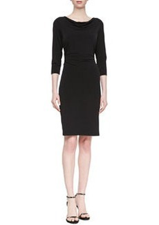 David Meister 3/4-Sleeve Jersey Dress