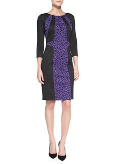 David Meister 3/4-Sleeve Printed Dress
