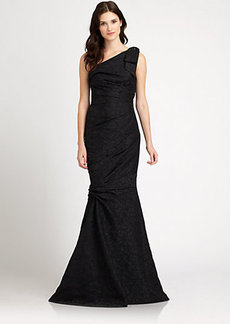 David Meister Asymmetrical Gown