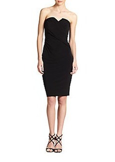 David Meister Draped Jersey Strapless Dress