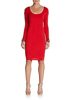 David Meister Embellished Jersey Dress