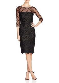 David Meister Illusion Dot Lace Dress