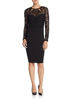David Meister Lace Illusion-Top Dress