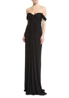 David Meister Off-the-Shoulder Jersey Column Gown  Off-the-Shoulder Jersey Column Gown