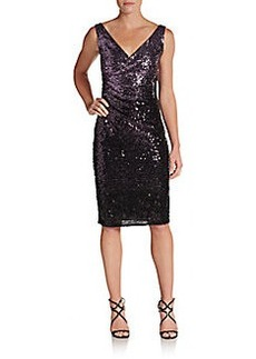 David Meister Ombré Sequin Cocktail Dress