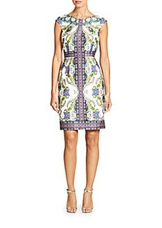 David Meister Printed Sheath Dress