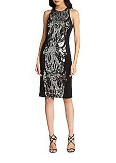 David Meister Sequin Racerback Dress