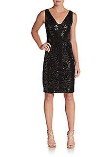 David Meister Sequin Sheath Dress