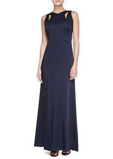 David Meister Sleeveless Cutout-Neck Gown