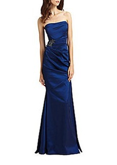 David Meister Strapless Gown