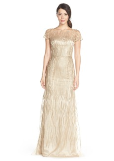 David MeisterEmbroidered Tulle Fit & Flare Gown