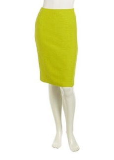 Lafayette 148 New York Blossom Textured Pencil Skirt, Agave