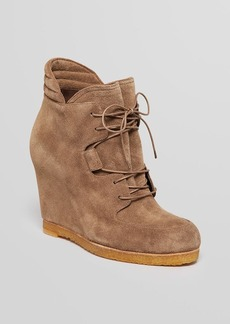 Stuart Weitzman Lace Up Platform Wedge Booties - Kidstuff
